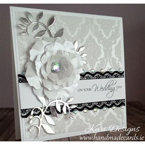 Handcrafted Wedding Cards - beautiful wedding card handmade by kari designs www