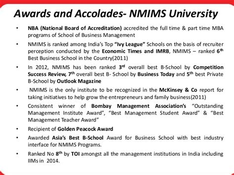Nmims Part Time Mba Review by Nmims Distance Learning Programs Ppt
