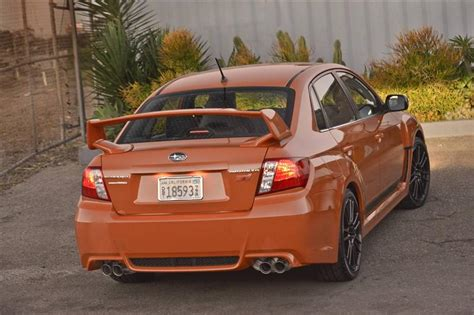 subaru wrx sti orange 2013 subaru impreza wrx orange and black special edition