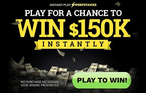 Play Sweepstakes - instant play sweepstakes us only
