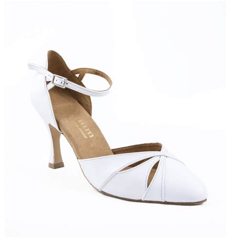 Comfortable White Heels high quality comfortable white leather bridal heels closed