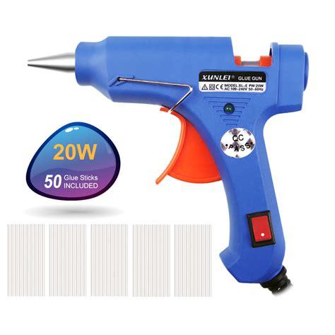 Glue Gun Pistol Lem Tembak 20w high temp heater melt glue gun 20w repair tool heat gun blue mini gun with trigger eu