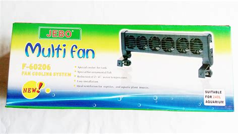 Lu Aquarium Jebo aquarium cooling fan 6 fans selence operate easy install