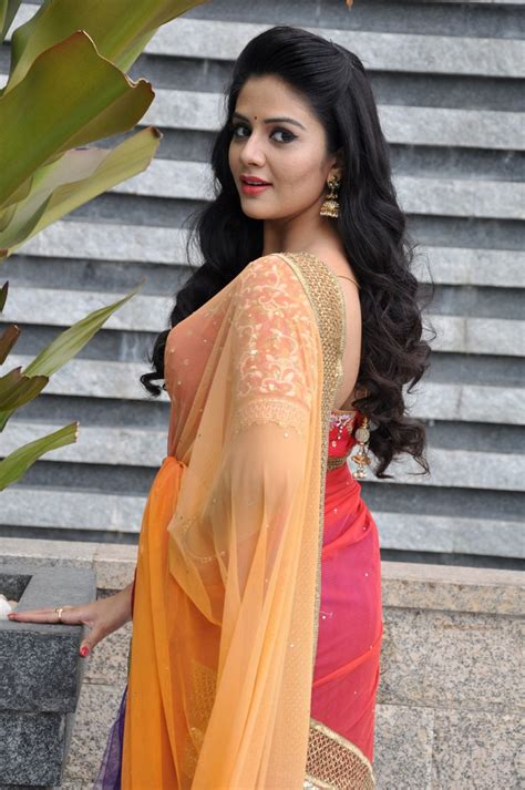 srimukhi hot actress srimukhi colourful gorgeous stills in spicy saree