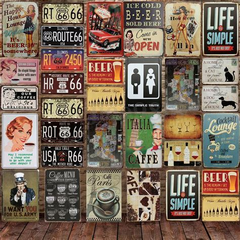 Home Decor Au retro metal signs poster plaque bar pub club cafe home