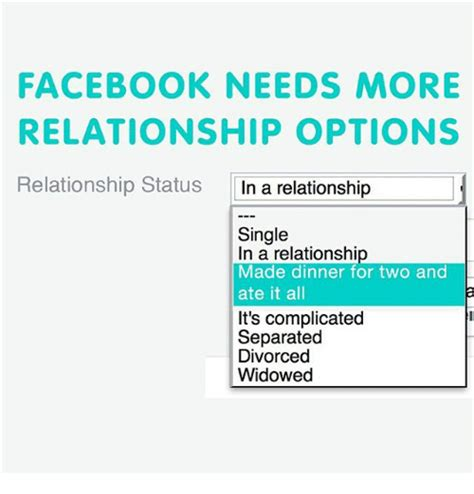 Facebook Relationship Memes - facebook needs more relationship options relationship status in a relationship single in a