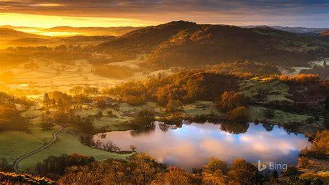 loughrigg tarn sunrise uk  bing desktop preview