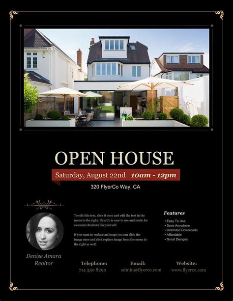 on the house real estate open house flyers real estate marketing blog