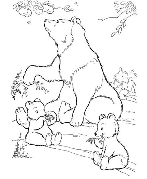 nature themed coloring pages bear family coloring page nature themed baby shower