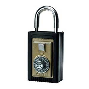combination lock box for door with rubber boot