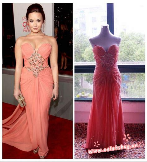 Choice Awards Strapless Trend by Aliexpress Buy Demi Lovato Strapless Prom Dress 2012