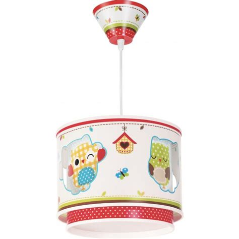 Lu Led Owl suspension pvc owls dalber d27 cm luminaire enfant