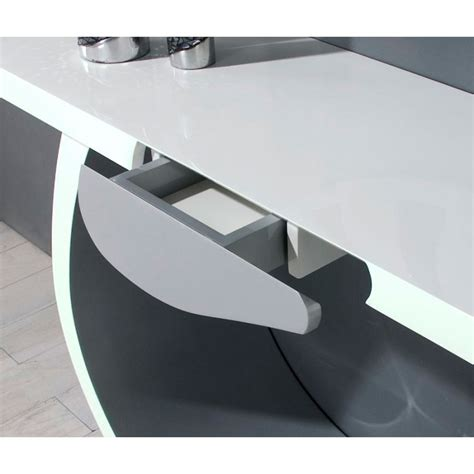Table Console Blanc Laque