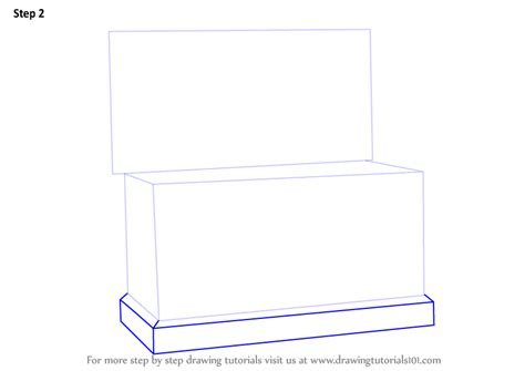 doodle drawing boxes learn how to draw a box furniture step by step