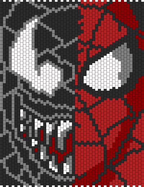 spiderman bead pattern venom n spiderman face bead pattern peyote bead patterns