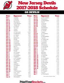 printable new jersey devils hockey schedule 2017 2018