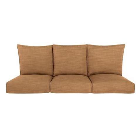 home depot outdoor sofa brown jordan highland replacement outdoor sofa cushion in