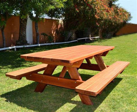 picnic table plans redwood  woodworking