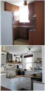 cheap kitchen remodel ideas before and after our kitchen before after open shelving kitchen
