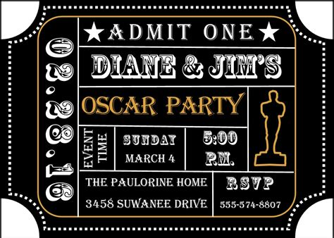oscar invitation template academy awards invitations and oscar invitations new
