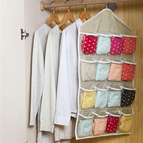 Wall Mounted Clothes Organizer 16 Pockets Hanging Door Wall Mounted Clothing Closet