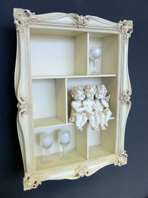cream wall shelves for bedrooms cream shabby wall shelf unit distressed vintage chic storage ornate b