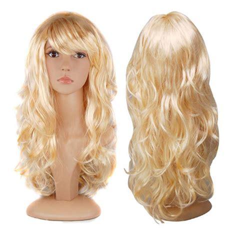 Wig Wavy womens wavy curly fancy dress wigs pop costume ebay