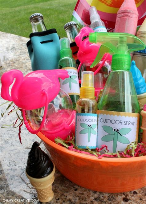 backyard gift ideas summer party gift basket oh my creative