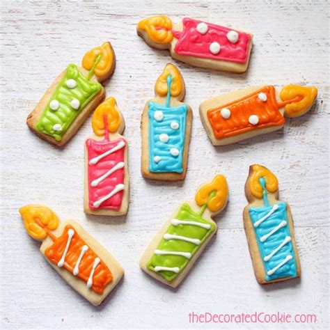 How To Make Decorated Cookies by Candle Cookies For A Birthday