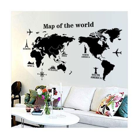 blibli walls jual oem map of the world wall sticker dekorasi dinding