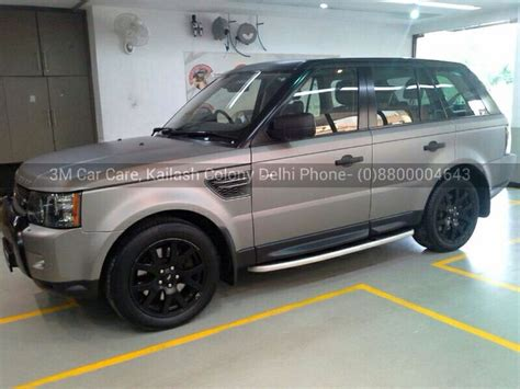 wrapped range rover range rover sports wrapped in 3m 1080 matte gray aluminium