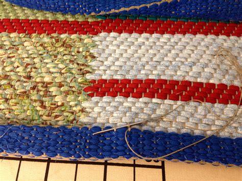 Rug Warp by Hemmed Rag Rug Warped For