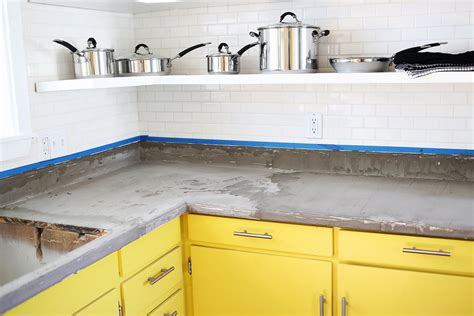 Diy Formica Countertops by Concrete Countertop Diy A Beautiful Mess