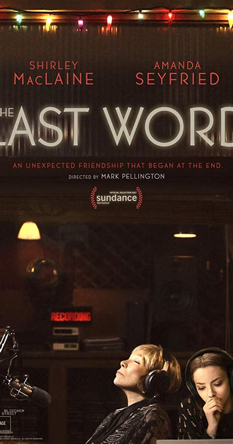 The Last Word the last word 2017 imdb