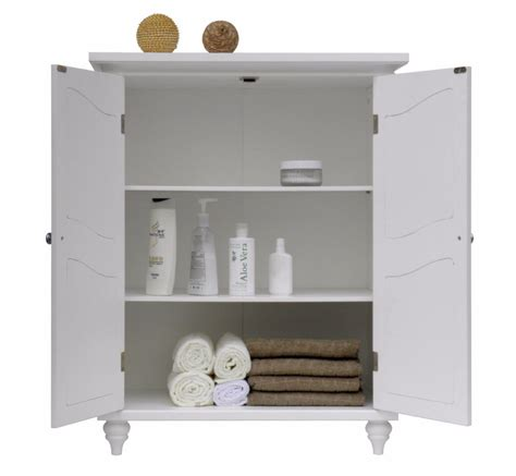 bathroom floor cabinet white furniture linen towel home