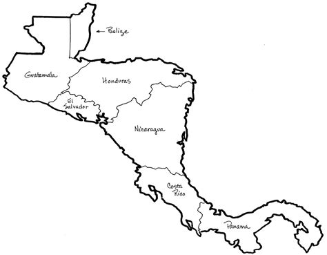 Central America Map Clipart Central America Caribbean Flags Coloring Pages