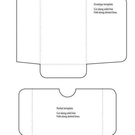 printable pocket envelope template 6 best images of pocket envelope letter template free