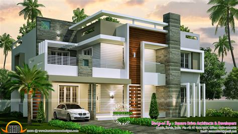 home plans modern 4 bedroom contemporary home design kerala home design