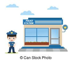 police station vector clip art eps images. 1,282 police