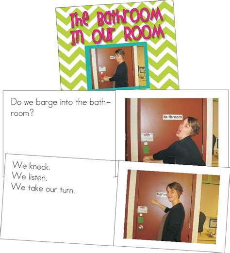 bathroom book classroom procedures book for the bathroom kindergartenworks