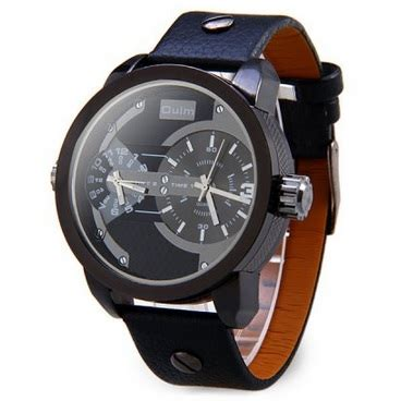Oulm Jam Wanita Leather Band Fashion 9591l Black oulm quartz leather band fashion 3221 black jakartanotebook