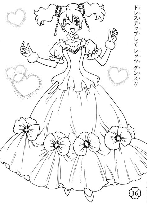 Free Coloring Pages Of Fresh Precure Pretty Cure Coloring Pages
