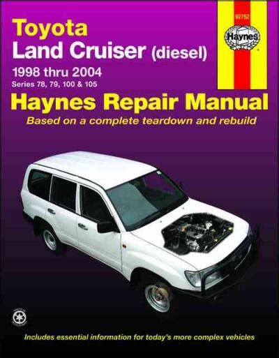 car engine repair manual 1997 toyota land cruiser free book repair manuals toyota land cruiser 78 79 100 105 series diesel 1998 2004 sagin workshop car manuals repair