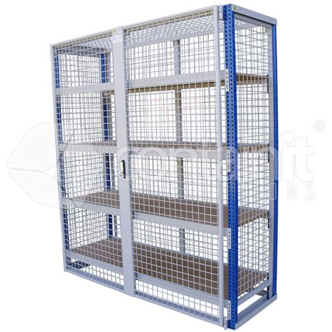 lockable storeman 174 longspan shelving with mdf or mesh