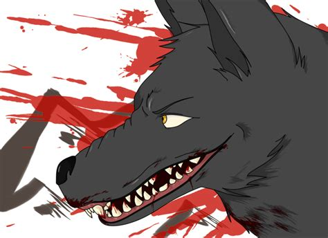 evil wolf by mangastudent on deviantart