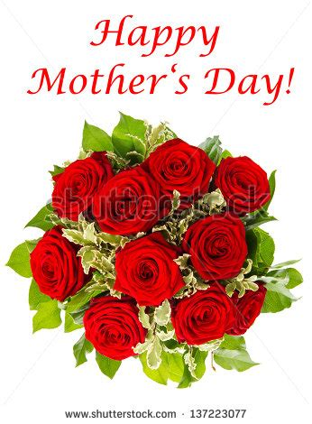 Official S Day Flower Vector Card Roses Mothers Day Stock Vector 182026160