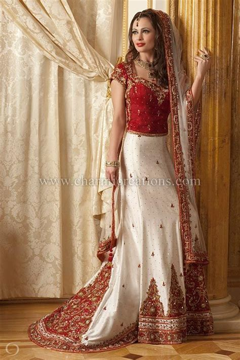 Indian Bridal Dresses   White raw silk classic bridal