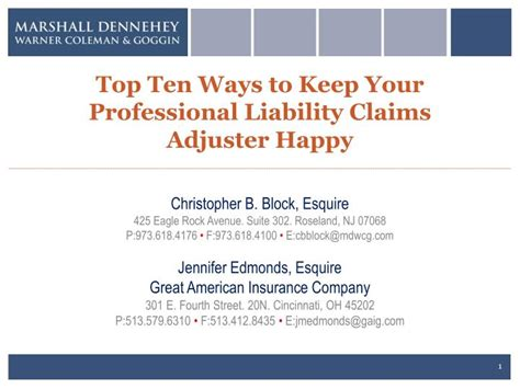 Finding Ways To Keep Up With Professionals by Ppt Top Ten Ways To Keep Your Professional Liability