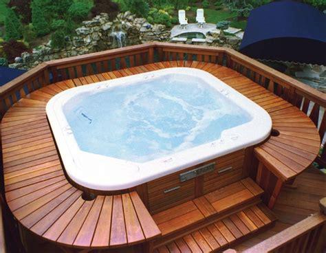 soak it up this winter hot tubs on decks