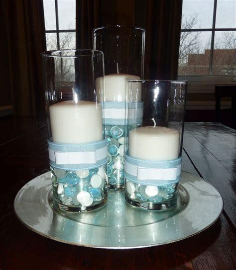 boy baptism centerpiece just change the color of the